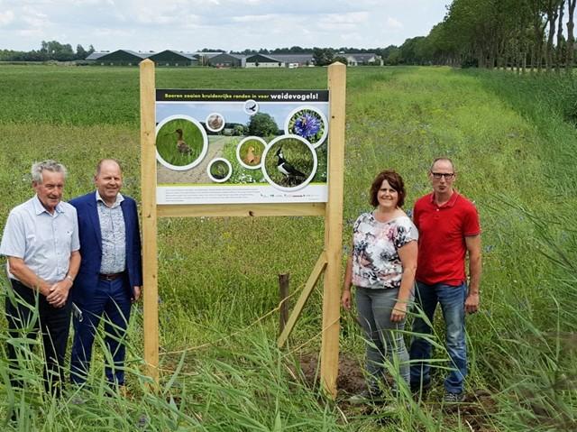 Info-paneel  Weidevogels bij Fam. van de Pas Heeswijk juli 2017
